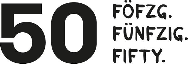 50 – Föfzg. Fünfzig. Fifty.